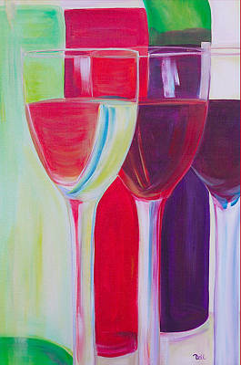 Syrah Painting - Red White And Blush by Debi Starr