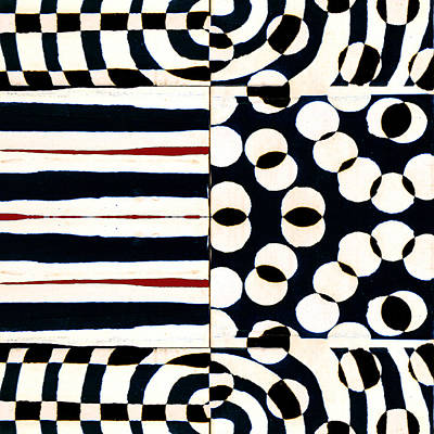 Op Art Photograph - Red White Black Number 1 by Carol Leigh