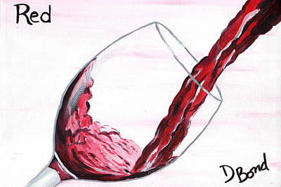 Glass Of Wine Painting - Red Wine by Debi Bond
