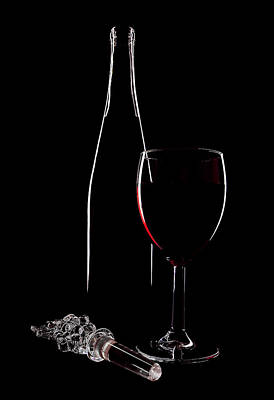 Red Wine Print by Marcia Colelli