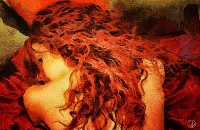 Curl Digital Art - Redhead by Gun Legler