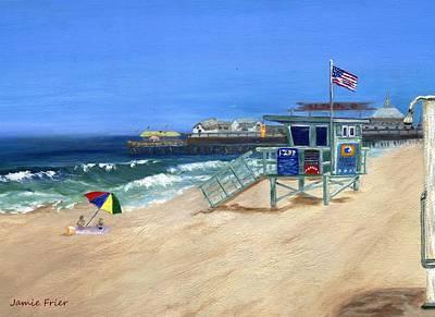 Frier Painting - Redondo Beach Lifeguard  by Jamie Frier