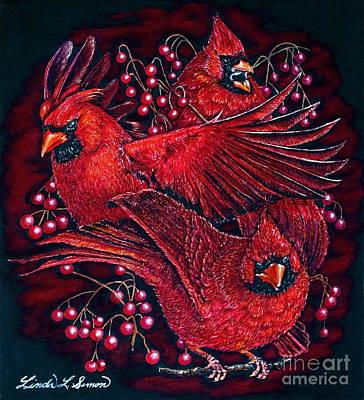 Animal Painting - Reds by Linda Simon