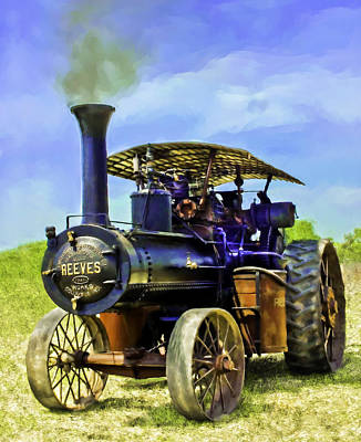 Greyhound Photograph - Reeves Steam Traction Engine by F Leblanc