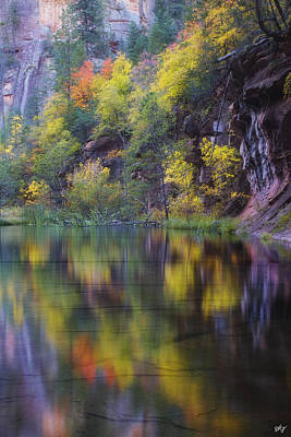 West Fork Photograph - Reflected Fall by Peter Coskun