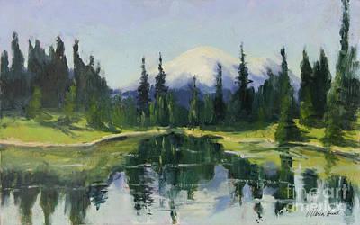 Reflecting Mt. Rainier Original by Maria Hunt