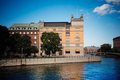 Sweden Digital Art - Reflecting On Stockholm by Jim DeLillo