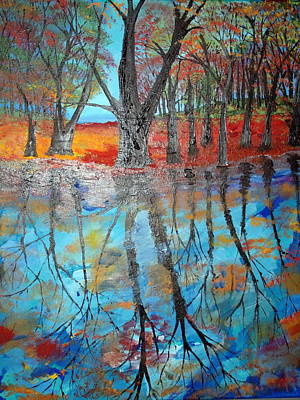 Painting - Reflecting Pond by Daniel Nadeau