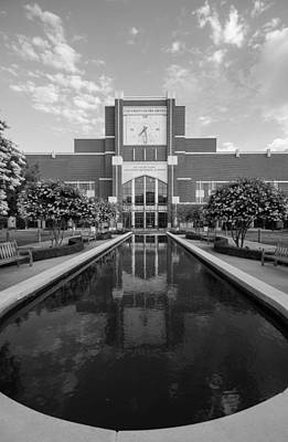Oklahoma University Photograph - Reflecting Pond Outside Of Oklahoma Memorial Stadium by Nathan Hillis