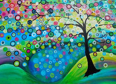 Fantasy Tree Art Painting - Reflecting by Shirley Smith