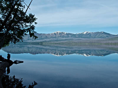 Reflection In Lake Mcdonald In Glacier National Park-montana Original by Ruth Hager