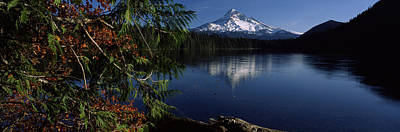 Reflection Of A Mountain In A Lake, Mt Print by Panoramic Images