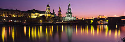 Dresden Photograph - Reflection Of Buildings On Water At by Panoramic Images