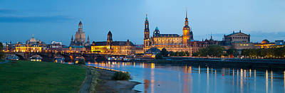 Dresden Photograph - Reflection Of Buildings On Water by Panoramic Images