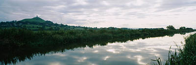 Hilltop Scenes Photograph - Reflection Of Clouds In The River by Panoramic Images