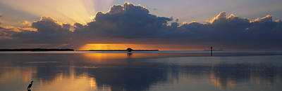 Romantic Location Photograph - Reflection Of Clouds In The Sea by Panoramic Images