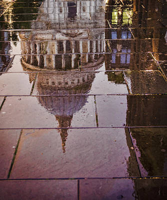 Reflection Of St Pauls Print by Heather Applegate
