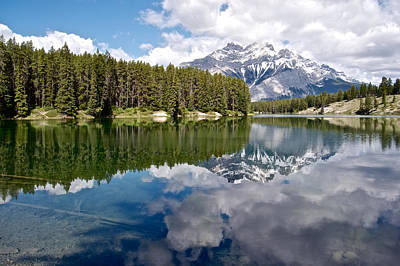 Reflection Two Along Johnson Lake Loop Trail In Banff National Park-alberta-canada   Original by Ruth Hager