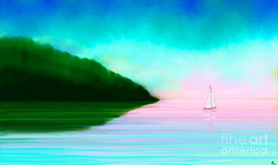 Digital Pastel Painting - Reflections by Anita Lewis