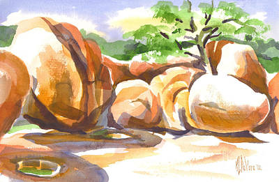 Reflections At Elephant Rocks Print by Kip DeVore