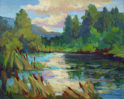 Pleain Air Painting - Reflections by Diane McClary