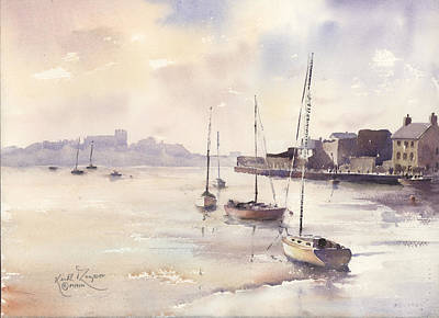 Reflections Dungarvan Harbour County Waterford Print by Keith W Thompson