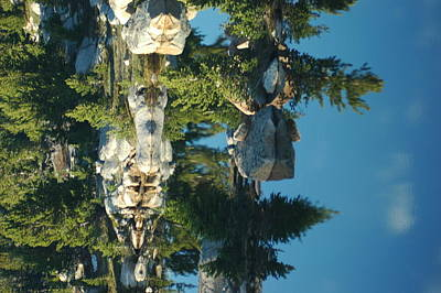 Reflections From Beartooth Highway Print by Larry Moloney