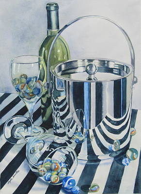 Reflections On Bottle Painting - Reflections Ill by Daydre Hamilton