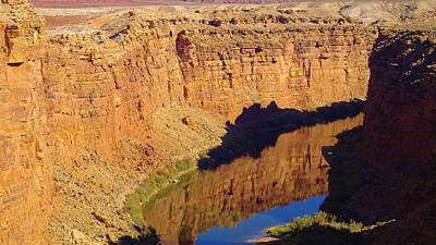 Arizonia Photograph - Reflections In The Colorado River by Jeff Swan