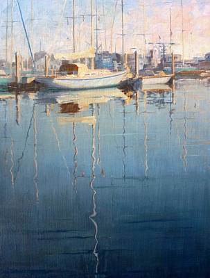 Reflections In The Harbor Original by Sharon Weaver