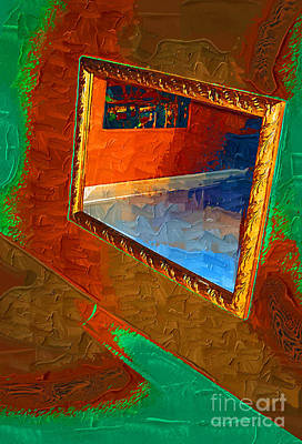 Must Art Mixed Media - Reflections In The Mirror by Jonathan Steward