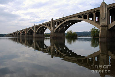 Reflections Of A Bridge Print by Scott D Welch