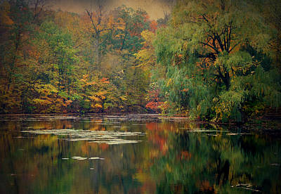 Mission Ventures Photograph - Reflections Of Fall by Terry Eve Tanner