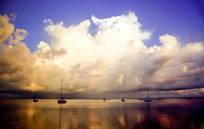 Reflections Of Key Largo Print by Karen Wiles