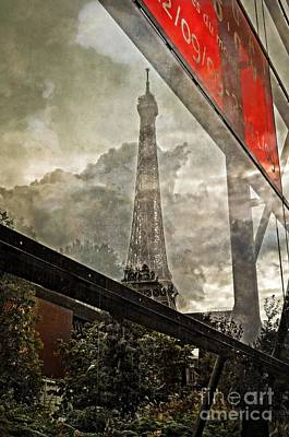Reflections Of Paris Print by Mary Machare