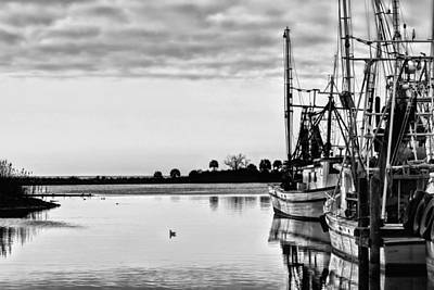 Reflections Of Pensacola Bay Print by JC Findley