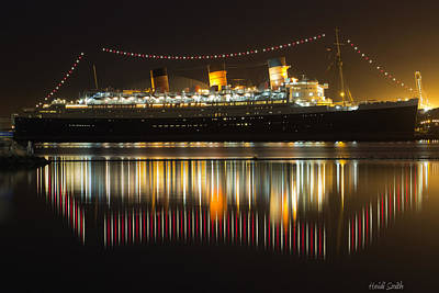 Reflections Of Queen Mary Print by Heidi Smith