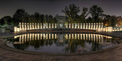 Reflections Of The Atlantic Theater Print by Metro DC Photography