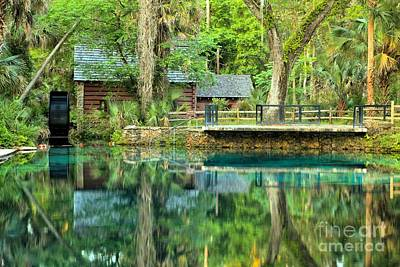 Ocala Photograph - Reflections Of The Juniper Springs Mill House by Adam Jewell