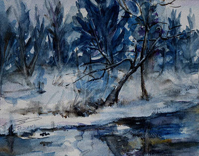Reflections Of Winter Print by Xueling Zou