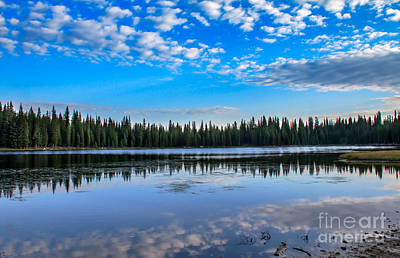 Haybales Photograph - Reflections On Anthony Lake by Robert Bales
