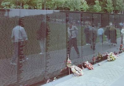 Reflections Vietnam Memorial Print by Joann Renner