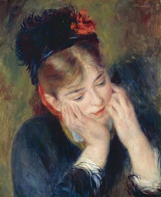 Pierre-auguste Renoir Painting - Reflexion by Pierre-Auguste Renoir