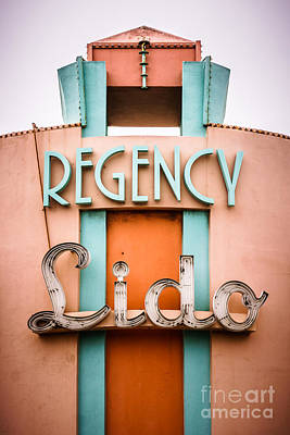 Regency Lido Theater Newport Beach Picture Print by Paul Velgos