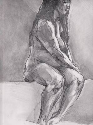 Reflective Drawing - Regret by Denise Warren