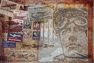 Regular Mail By Air Print by Carol Leigh