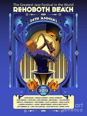 Music Digital Art - Rehoboth Beach Jazz Fest 2013 by Mike Massengale