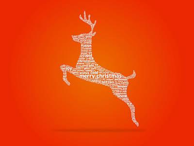 Reindeer Print by Aged Pixel