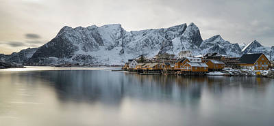 Sunset In Norway Photograph - Reine And Sakrisoy Villages by Panoramic Images