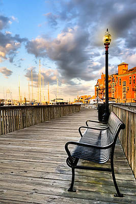 Relax And Watch The Sunset In Boston Print by Mark E Tisdale